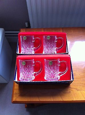 4 CRISTAL D'ARQUES LEAD CRYSTAL  31cl TANKARDS  BOXED