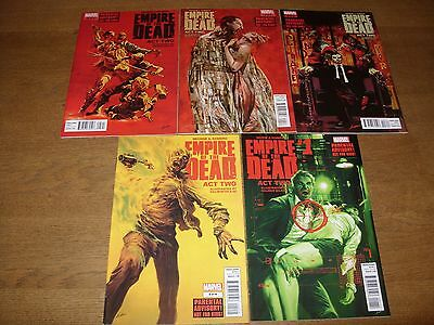 MARVEL Comics - EMPIRE OF THE DEAD: Act Two #1 - 5  Complete (2014/15) VF/NM