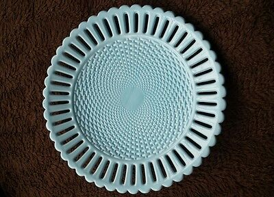 beautiful antique Sowerby milk glass plate excellent condition