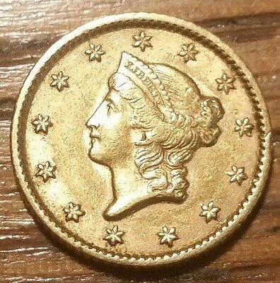 1853 Liberty Head One Dollar Gold Coin