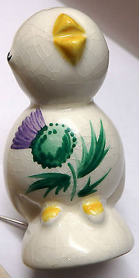 Vintage Hand Painted Chick Pepperette: Wemyss/Bovey: Plichta Retailed/Branded: