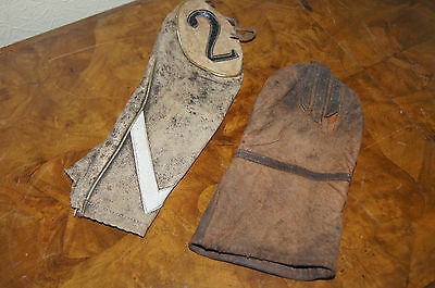 Vintage Leather Golf Club Covers / Hoods X 2