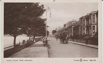 Rothesay - Mount Stuart Road - Bute -Real Photo  Early Postcard