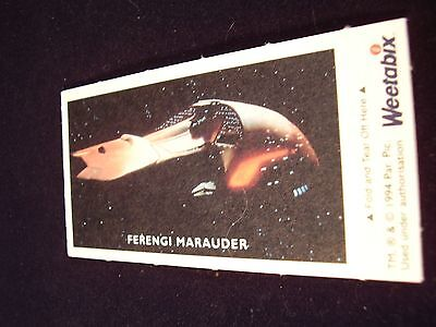 Weetabix - Star Trek Next Generation Collectors Card 1994 Ferengi Marauder /borg
