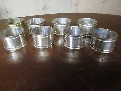vintage 8 silver plate napkin rings