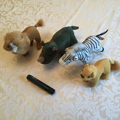 Collection Soft toy lion, cub, Rhino, zebra.  NEW £5
