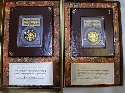 2 Piece 1857/0 49er Horseman Justh & Hunter PCGS $10 SS Central America CA Gold