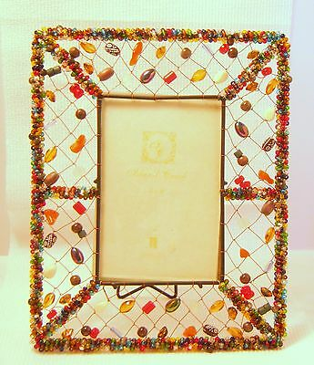 Beaded Metal Photo Frame 10 x 8 inches photo size 4 x 6 inches