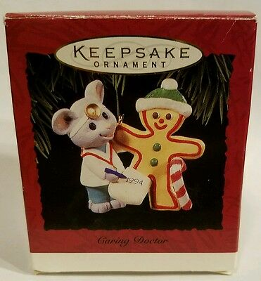 Hallmark Keepsake Ornament Caring Doctor Mouse Gingerbread Man 1994