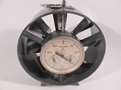 Early Vintage TAYLOR Velocity Meter Instrument Patent Pending w/Leather Case
