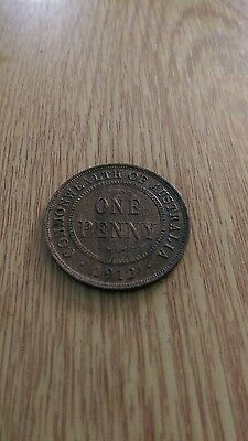 1912 australia one penny coin