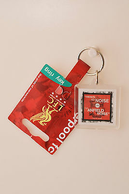 Liverpool FC Red Square Plastic Keyring Football Club Birthday Gift Anfeild Tag