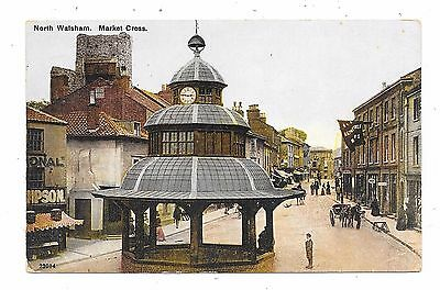 Nice Animated Printed Postcard Of Market Cross North Walsham Norfolk
