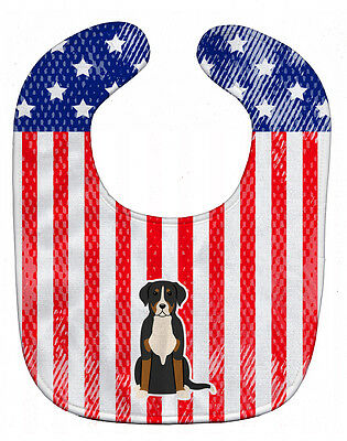 Carolines Treasures  BB3032BIB Patriotic USA Greater Swiss Mountain Dog Baby Bib