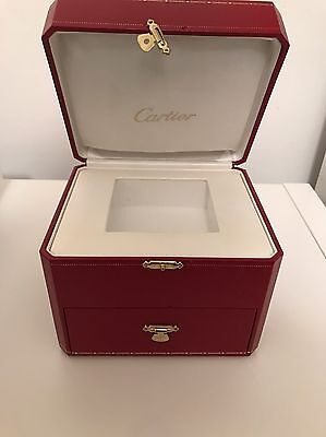 Large Cartier Luxury Watch Box with Extra Draw Compartment