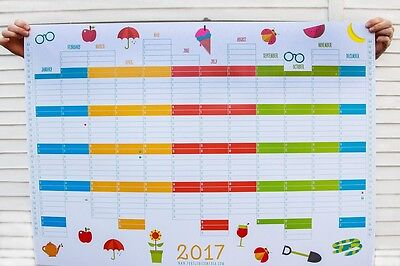 Delightful & Unique Premium Quality Very Large A1 2017 Wall Planner