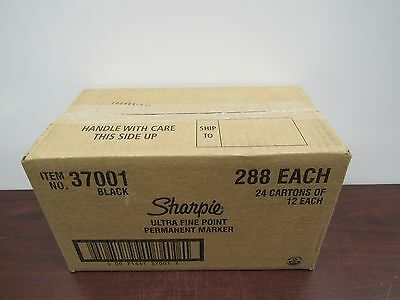 Lot of 288 Sharpie 37001 Ultra Fine Point Permanent Markers [10C]