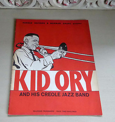 Kid Ory And His Creole Jazz Band - First UK Tour (1959) Rare Concert Programme
