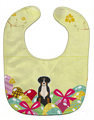 Carolines Treasures  BB6037BIB Easter Eggs Greater Swiss Mountain Dog Baby Bib