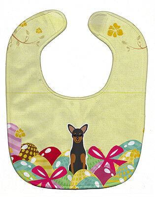 Carolines Treasures  BB6028BIB Easter Eggs Manchester Terrier Baby Bib
