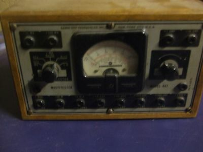Vintage Tube Tester model # 447 by Radio City Products New York
