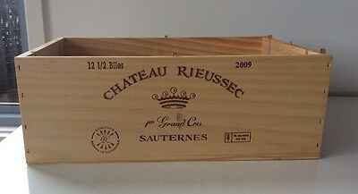 Chateau Rieussec Timber Wine  Crate / Box
