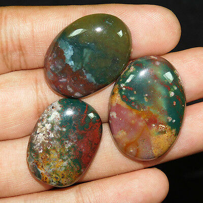 103.2Cts 100% NATURAL AMAZING BLOOD STONE  MIX LOOSE CAB GEMSTONE PQ036