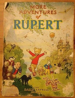The Daily Express Annual More Adventures of Rupert 1947 Alfred Bestall Bear