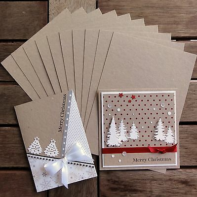 """BOTANY A5 RECYCLED BLANK KRAFT CARD """"INDUSTRIAL"""" LOOK 230 GSM x 10 - NEW"""