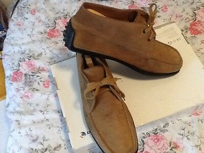 TOD'S brown suede leather loafer / shoes size uk 10.5 (44.5)