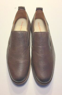 Tommy Bahama Eaton Leather Loafers Men's Size 10.5 Brand New Dark Brown