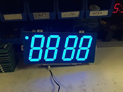 4 inch 7 Segment  4 digit Ultra Bright Blue LED display 15VDC