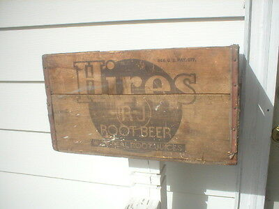 vintage hires root beer soda pop advertising wood crate box mankato minnesota