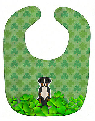 Carolines Treasures  BB6178BIB Greater Swiss Mountain Dog Shamrocks Baby Bib
