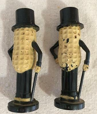 Vintage Planters Nuts Set of Mr. Peanut Salt & Pepper Shakers