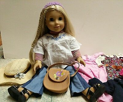 American Girl Doll Julie and Accessories outfits record player