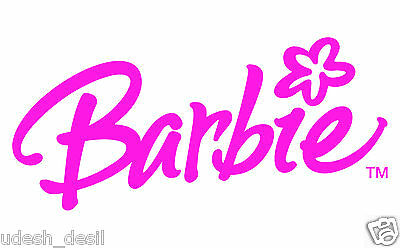 **Barbie Logo Iron on transfer For any color fabric.**