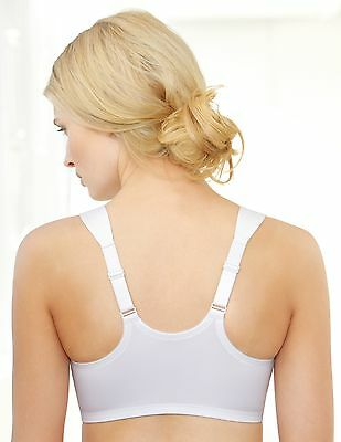 NEW SEALED Bra FRONT-CLOSE T-Back Racerback SUPER-WIDE-STRAPS White Retails $42+