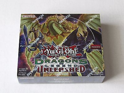 YUGIOH DRAGONS of LEGENDS UNLEASHED Booster Box 1st edition Sealed  Yu-Gi-Oh !!