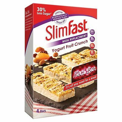 Slim Fast Meal Replacement Bar Multipack (4 Bars)  - Choose Your Flavour