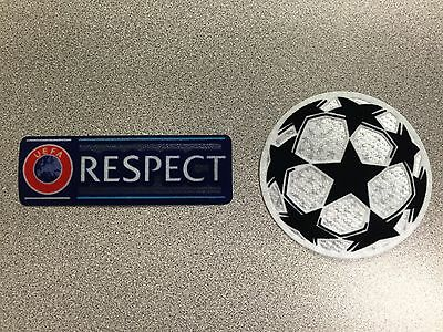 UEFA Champions League Set of Starball and Respect Sleeve Patches