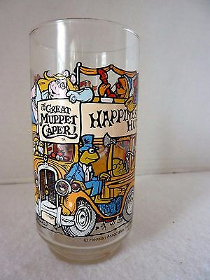 McDonald's The Great Muppet Caper Collectible Glass 1981 Happiness Hotel