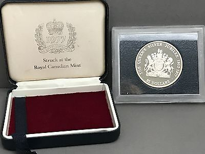 1977 Cayman Islands $25 Silver Coin The Queen's Silver Jubilee