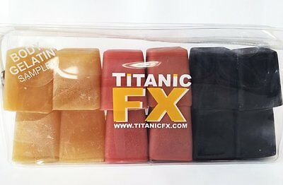 Titanic FX - Prosthetic Gelatin - Blood, Muscle, Fat 12 pack - (3 oz. Cubes)