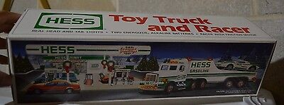 1991 Hess Toy Truck & Friction Racer - NIB - Real Head & Tail Lights
