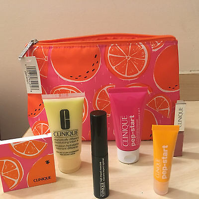 Clinique Gift Set X 8 Products With Make Up Bag **BNWT**