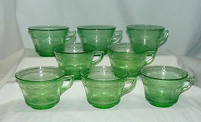 8 Federal PATRICIAN GREEN *CUPS*ONLY**