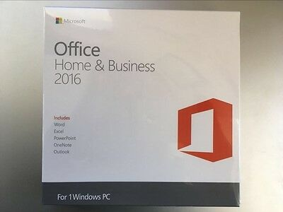 Microsoft Office 2016 Home and Business 32+64bit For 1PC Full Version with DVD