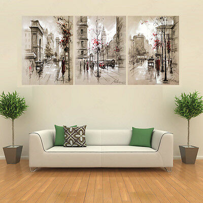 3 Pcs Unframed Modern Flower Picture Wall Art Decor Oil Painting Print on Canvas