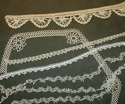 Lot of Antique/Vintage Crochet & Tatted Laces - Different Styles & Sizes